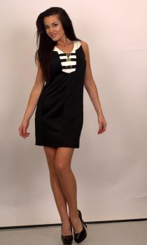 2fcfa2b4fb Czarna elegancka sukienka włoskiej marki RINASCIMENTO