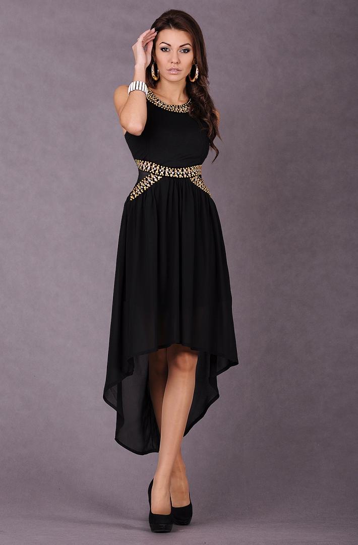 cadaf871 Czarna zwiewna sukienka :: La'Mode